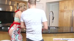 Alexis Texas fucks in the kitchen