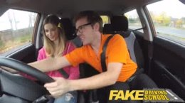 FakeDrivingSchool - Cabbie Has Sex With Client