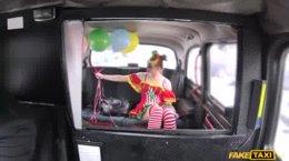 FakeTaxi - Lady Bug-Driver Fucks Valentine Clown