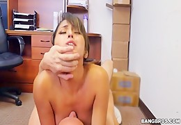Sexy latina maid seduce her boss