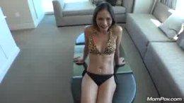 Lady at hotel having fun