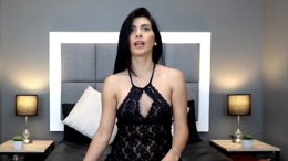 Beautiful Latina With Black Hair Using  Dildo To Orgasm