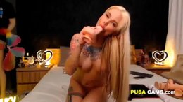 Super HOT Tattooed Blonde Most Sensual Girl